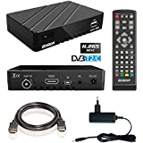 Edision proton T265 Full HD Hybrid DVB-T2 Kabel-Receiver FTA HDTV DVB-C/DVB-T2 H.265 HEVC (HDMI, USB 2.0) inkl. HDMI Kabel