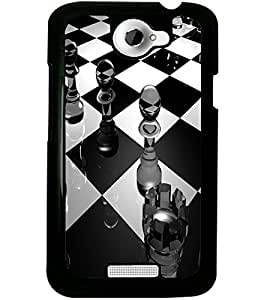 ColourCraft Chess Design Back Case Cover for HTC ONE X
