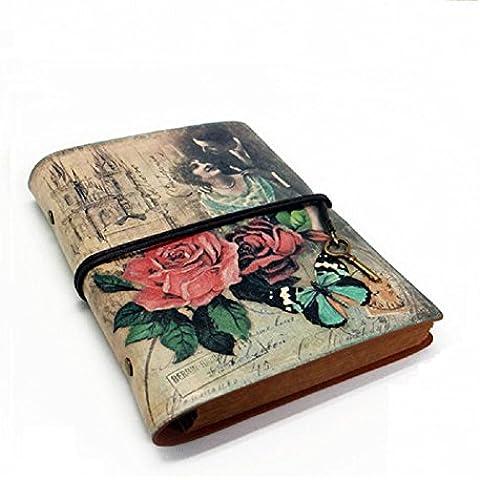 Jolin Vintage vitela diario rellenable notebook-creative regalo para transporte de memoria