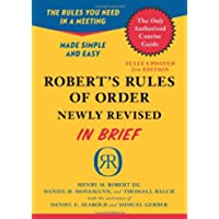 Robert's Rules of Order: In Brief, Updated to Accord With