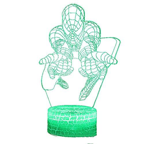 3D-Tischleuchte 3D LED Lampen-Nachtlicht 7 Farben USB Operated Tabelle dimmbare Nachtlicht mit Noten-Schalter Fernbedienung 3D-Leuchten Schreibtischlampe f¨¹r Valentinstag, Geburtstag, Hochzeit Ge