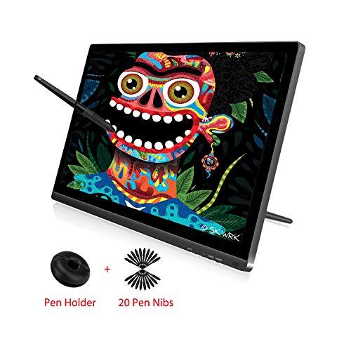 HUION KAMVAS GT-191 V2 HD IPS 8192 Monitor de Gráficos de Sensibilidad a la Presión con Lápiz Sin Batería Tableta de Gráficos de Pantalla de Vidrio Antideslumbrante con Monitor