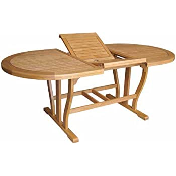 Tavolo in legno massello da giardino estensibile cm ...