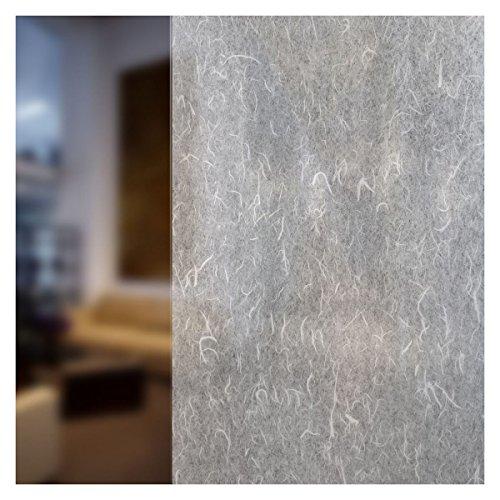 BdF 4RP Dekorative Fensterfolie Reispapier weiß, Polyester-Mischgewebe, weiß, 25in X 7ft (Ramie-mischung)