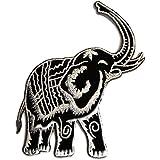Gris Elefante Animal Zoo Tailandia Patch '9.8 x 9.8 cm'- Parche Parches Termoadhesivos Parche Bordado Parches Bordados Parches Para La Ropa Parches La Ropa Termoadhesivo Apliques Iron on Patch Iron-On Apliques