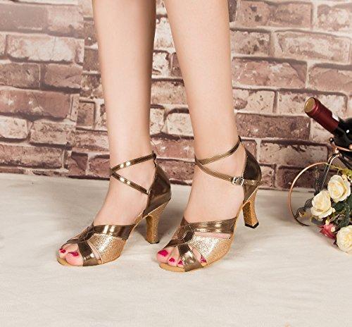 Minitoo ,  Damen Tanzschuhe , Gold – gold – Größe: 38 - 5
