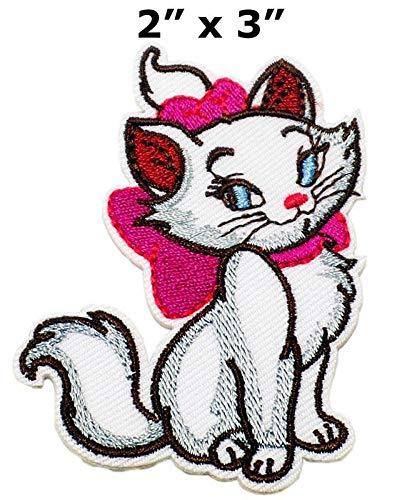 LipaLipaNa Marie Cat Kätzchen Kitty Disney Patch Symbol Jacke T-Shirt Patch Nähen Eisen auf gesticktem Zeichen Badge Kostüm Applique Souvenir Zubehör (Disney Kostüm Zeichen)