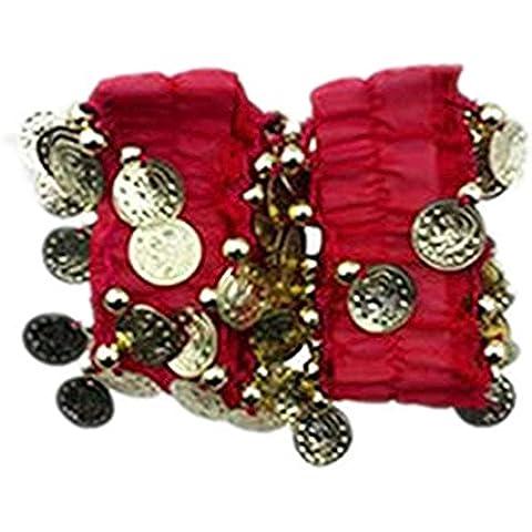 ReachTop 1 par de reloj de cadena de la gasa de la danza de vientre, Rojo