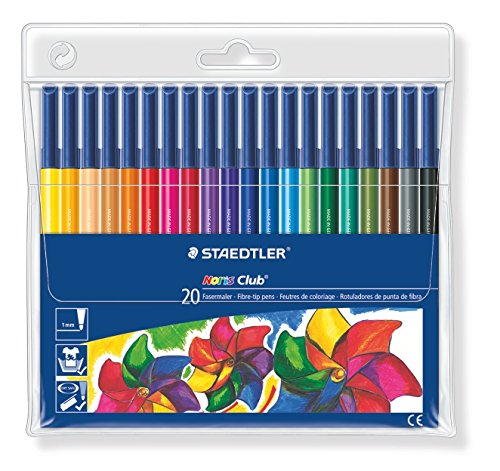 staedtler-326wp20-noris-club-fibre-tip-pen-with-wallet-assorted-colours-pack-of-20