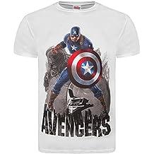 Producto oficial de Los Vengadores de Marvel Ultron 2 Age Of 'de Capitán América de Los Vengadores de' T-de manga corta de mujer - De color blanco