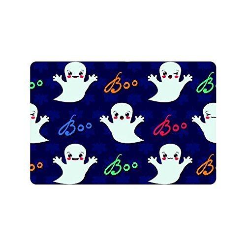 Funny Cute Ghost Home Decor, Happy Halloween Boo Polyester Stoff Vorhang für die Dusche Badezimmer-Sets mit Haken 152,4x 182,9cm, Textil, multi, 23.6 X 15.7 inch (Vorhang-set Halloween-dusche)
