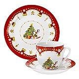 Kaffeeservice Weihnachtszauber 18tlg. für 6 Personen weiß mit Weihnachtsdekor für Kaffeeservice Weihnachtszauber 18tlg. für 6 Personen weiß mit Weihnachtsdekor
