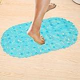 EasyBuy India White : Bath Mats Sucker Oval Pebble Foot Pad Foot Massage Non-Slip Bath Mats Tapis De Bain Memory Foam Shower Mat