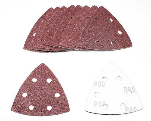50 Bl. K80 Klett Dreieck Schleifscheiben 93x93x93 mm 6-Loch Schleifpapier f. Deltaschleifer Deltaschleifteller
