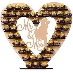 starter Soporte De Chocolate De Madera Ferrero Rocher Soporte De Chocolate De Madera, Hershey Kisses Soporte De Caramelo para Boda, Decoración Recepción De Boda