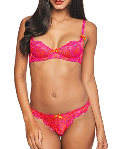 a41005f0f Agent Provocateur L Agent Womens Cara Non Pad Demi Bra Size 36D in Pink Lace
