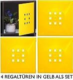 4er Set Designer Regaltür als Facheinsatz ca. 33,6cm x 33,6cm für IkeaRegal expedit * Gelb
