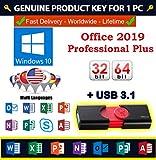 Office 2019 Professional Plus 1PC | Clave de producto + USB 16GB | Envío Correo Certificado.