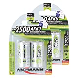 ANSMANN maxE Baby C Akku 2500mAh  vorgeladene ready2use NiMH Power Akkubatterie Babyzelle mit geringer Selbstentladung