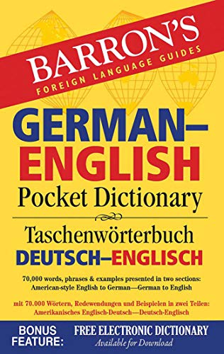 ish Pocket Dictionary: 70,000 words, phrases & examples presented in two sections: American style English to German -- German to English (Barron's Pocket Bilingual Dictionaries) ()