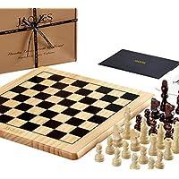 Jaques of London Jeu d'échecs Complet avec pièces - Qualité Echecs Board et Jaques Staunton Pièces d'échecs - Jaques Qualité des échecs Depuis 1795