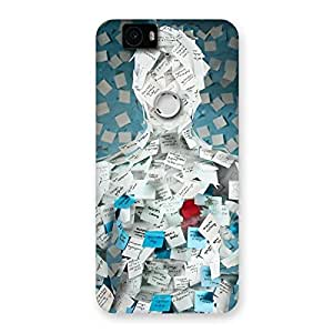Cute Office Paper Back Case Cover for Google Nexus-6P