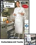 BAUMWOLLE Kochvorbinder mit Tasche Kochschürze Küchenschürze Schürze