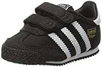 adidas Unisex Babies�?? Dragon OG Comfort Strap Trainers, Black (Core Black/Ftwr White/Core Black), 6 UK 23 EU