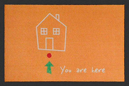 Empire Merchandising 658319 You Are Here, Zerbino, dimensioni 60 x 40 cm, in polipropilene, colore: arancione