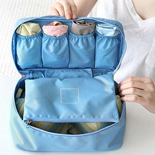 THEE Reise Kosmetiktasche Aufbewahrungsbeutel Damen Unterwäsche Tasche Makeup Organizer Blau