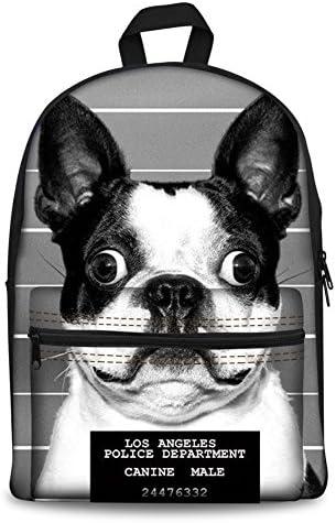 HUGS HUGS HUGS IDEA Cartable, Boston Terrier (Gris) - Y-H4455J B074M8J1Z6   Les Consommateurs D'abord  6fc985