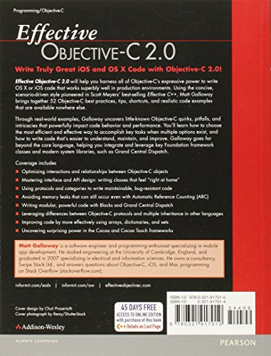 Effective Objective-C 2.0:52 Specific Ways to Improve Your iOS and OS X Programs (Effective Software Development Series)