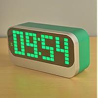Preisvergleich für YIREN-Kreative einfache Student LED Thermometer Elektronische Uhr desktop clock, 17 * 50 * 58 cm, Smaragdgrünen