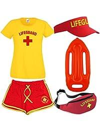 Mesdames Lifeguard T-shirt pour homme sac banane, Pare-Soleil et flotteur 5pièces