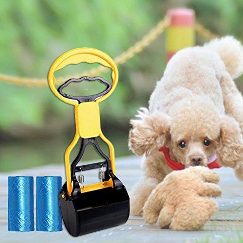 POPETPOP Cuatro Bolsas/Bolsas de Comida para Mascotas inocuas para el Medio Ambiente,con Cuchara de excremento,Dos Bolsas de excremento y un Separador de Huesos.