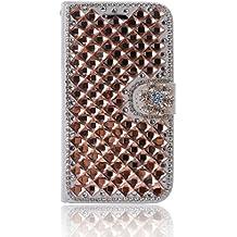 LG L Fino Funda, LG D295 Funda, Lifeturt [ llama diamante ] Cubierta de la caja de cuero superior de la carpeta del libro para LG L Fino/D295
