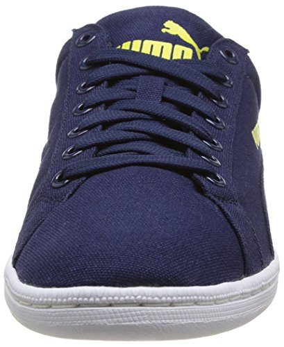 Puma Smash Canvas, Tennis Adulte Mixte Bleu (Peacoat/Peacoat)