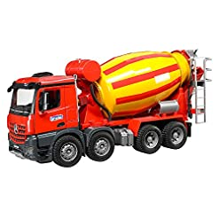 Bruder 03654 – Mb Arocs Camion Betoniera, Rosso/Giallo