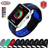 FunBand Bracelet pour Apple Watch, Apple Watch Sport Coloré Confortable  Souple Silicone Bande de Replacement 60906d406b2