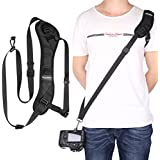 "Pangshi Camera Shoulder Belt Neck Strap With Snap Hook And 1/4"" Screw For Canon Nikon Sony Pentax Olympus FujiFilm Panasonic DSLR Camera"