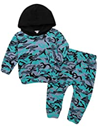 Outtop(TM) Baby-Boys' Hoodie Camouflage Print Tops+ Pants Clothes Sets Outfits