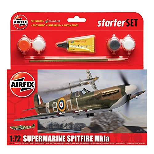Airfix A55100 Supermarine Spitfire MkIA 1:72 Scale Model Small Starter Set by Airfix