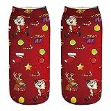 Gemütlich Weihnachten Baumwolle Socke, Quaan Kausal nähen Winter Warm Hausschuhe Kurz Drucken Knöchel Socken weich gemütlich Licht elastisch Deodorant Job Geschäft Anti Unterhose Socken