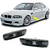 BMW E4698–03transparente cristal páginas intermitente Black cromo