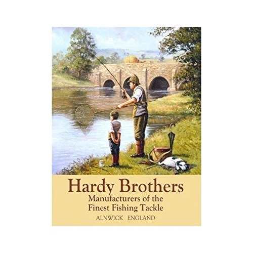 hardy-brother-finest-aparejos-de-pesca-alnwick-inglaterra-padre-abuelo-hijo-nieto-en-rio-banco-sedal