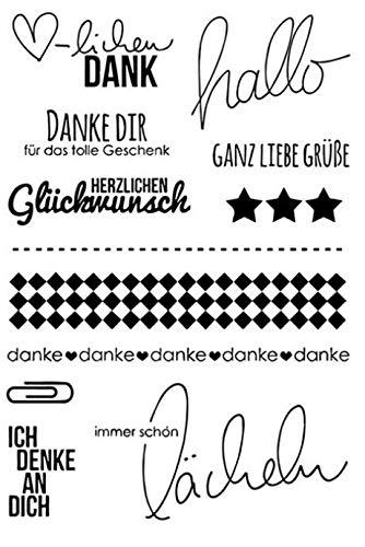 Deutsche Wörter transparent klarer Silikonstempel/Siegel für DIY Scrapbooking/Fotoalbum dekorative klare Stempel W1425