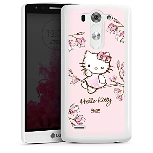 LG G3 S Hülle Case Handyhülle Hello Kitty Merchandise Fanartikel Magnolia (Hello Kitty Cases Für Lg G3)