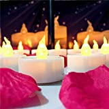 SLICETER 12PCS LED Flameless-Smokeless Yellow Colour Tea Light Candles With Extra Batteries Big Size Long Lasting- Battery Operated Candle For Wedding, Party, Dating, Festival, Anniversary, Diwali, Birthday -All Purpose