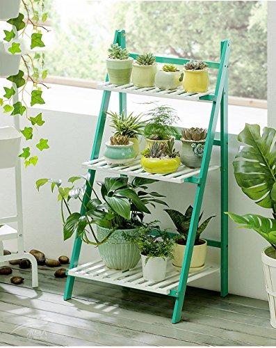 Lxlc Pliage Simple Salon Fleur Stand Balcon Solide Bois Multi-Couche étage intérieur Fleur Pot étagère (Taille : 50 * 40 * 96cm)