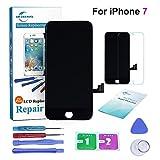 ER-ESTAVEL Kit de Réparation Ecran pour iPhone 7G 4.7 ' , Vitre Tactile LCD Display avec Outils de Remplacement (Noir)